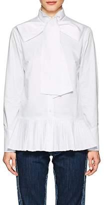 Osman Women's Effy Necktie-Detailed Cotton Twill Shirt - White