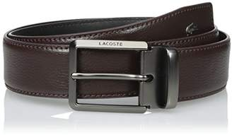 Lacoste Men's Men's Premium Leather Metal Croc Belt