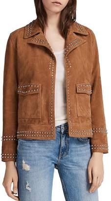 AllSaints Evans Studded Suede Jacket