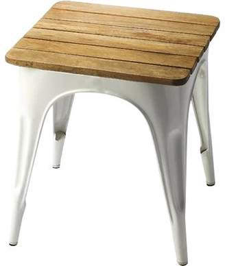Laurèl Foundry Modern Farmhouse Souliere Iron and Wood Stool