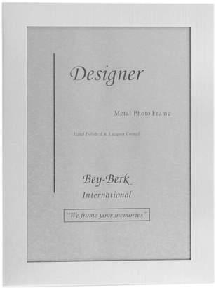 Bey-Berk Bey Berk Brushed Metal 5X7 Picture Frame With Easel Back