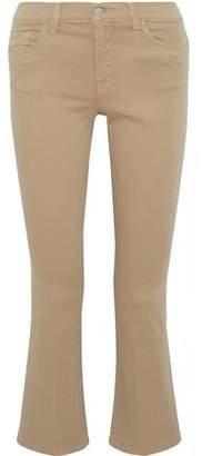 J Brand Selena Cropped Twill Bootcut Pants