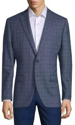 Calvin Klein Wool Plaid Sport Jacket