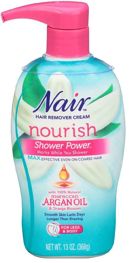 Nair Shower Power Max with Moroccan Argan Oil, Cream for Legs & Body