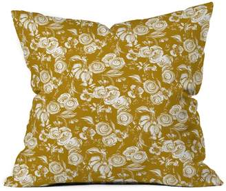 Deny Designs Pattern State Floral Sketch Ginger Throw Pillow
