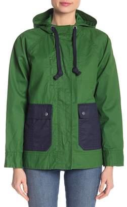 J.Crew J. Crew Hooded Colorblock Jacket