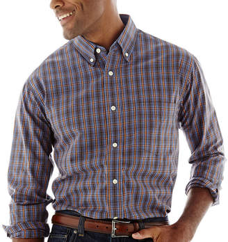Haggar Long-Sleeve Poplin Shirt