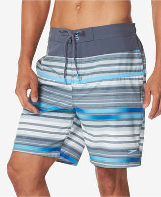 "Speedo Men Striped 19"" Boardshorts"