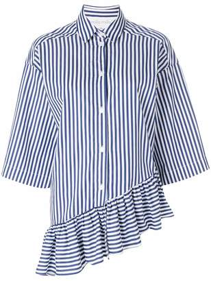 Milla asymmetric stripe shirt