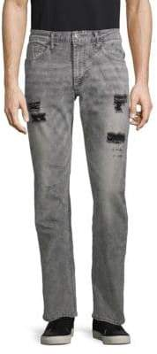 Buffalo David Bitton Ash Distressed Straight-Leg Jeans