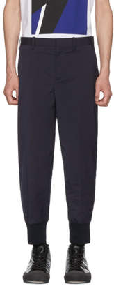 Neil Barrett Navy Rib Cuff Trousers