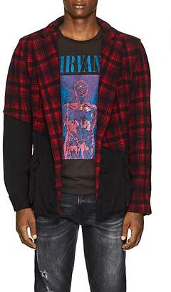 Greg Lauren Men's Plaid Wool-Cotton Jacket