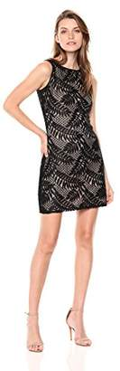 Sharagano Women's Palm Leaf Dress