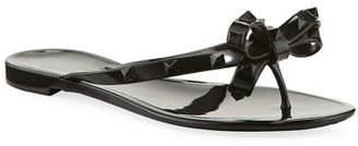 Valentino Rockstud PVC Jelly Thong Sandal
