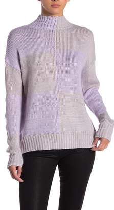 John & Jenn Colorblock Turtleneck Sweater