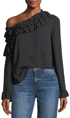 Paige Augustina Button-Front Long-Sleeve Blouse