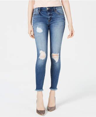 STS Blue Emma Ripped Raw-Hem Skinny Jeans