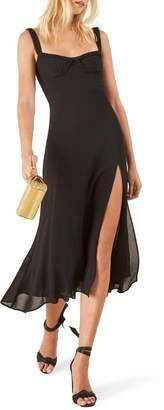 Reformation Peridot Side Slit Dress