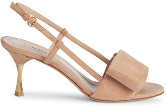 Valentino Bowow Suede Slingback Sandals
