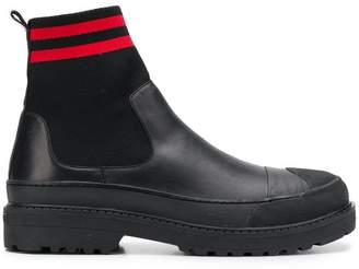 Neil Barrett horizontal stripe boots