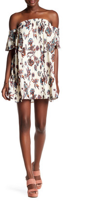 Fire Off-The-Shoulder Crinkle Dress $48 thestylecure.com