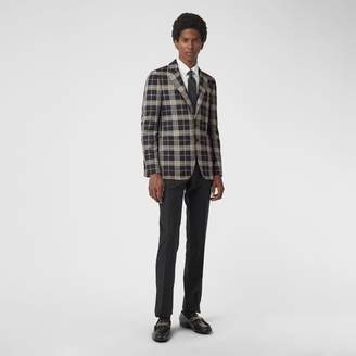Burberry Slim Fit Fil Coupé Check Tailored Jacket