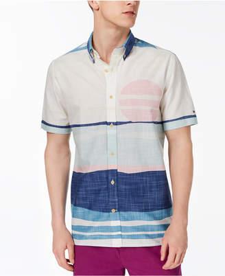 Tommy Hilfiger Men's Custom Fit Desert Sunset Shirt, Created for Macy's