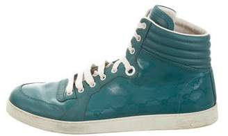 Gucci Leather-Trimmed GG Supreme Sneakers