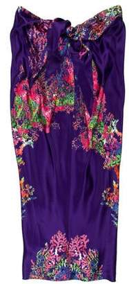 Halston Strapless Silk Dress