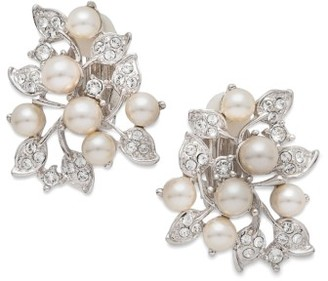 Women's Nina Imitation Pearl & Crystal Clip Earrings $75 thestylecure.com