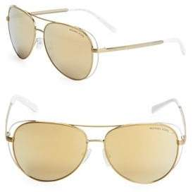 Michael Kors 69MM Aviator Sunglasses