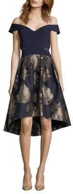 Xscape Evenings Off-The-Shoulder Fit-&-Flare Dress