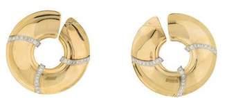 14K Diamond Disc Earrings