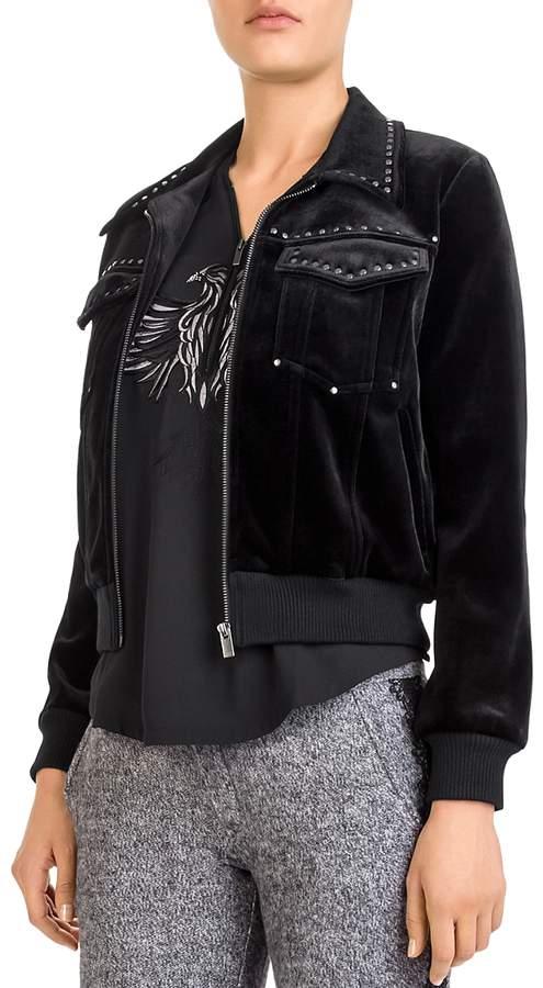 Studded Velvet Jacket