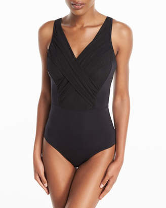 Jets Aspire Crossover-Front One-Piece Swimsuit, (DD-E Cup)