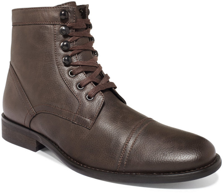 Unlisted A Kenneth Cole Production Blog Lights Cap-Toe Boots