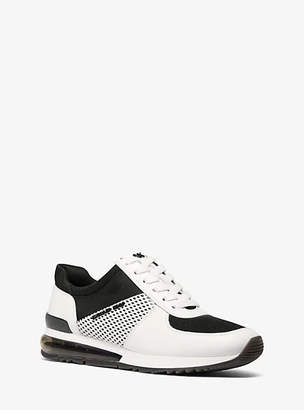 Michael Kors Allie Extreme Mixed-Media Trainer