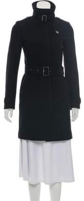 Burberry Exploded Check-Lined Wool Coat Black Exploded Check-Lined Wool Coat