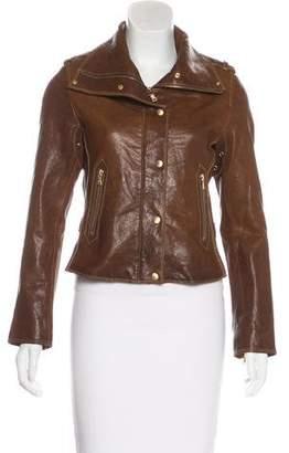 Andrew Marc Leather Biker Jacket