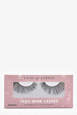 boohoo NEW Womens Land Of Lashes Faux Mink Lashes- Sunrise in Black size One