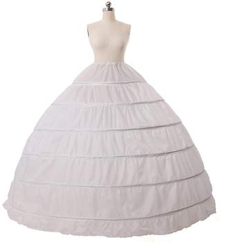 M Bridal Women's Full A-line 6 Hoop Floor-length Brides Dress Gown Slip Petticoat