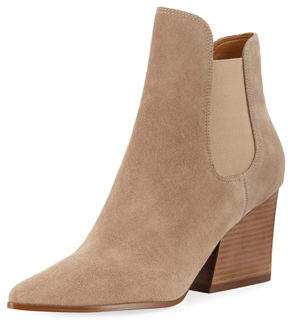 KENDALL + KYLIE Finley Suede Gored Booties