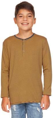 Dex Boy's Striped Cotton Blend Henley