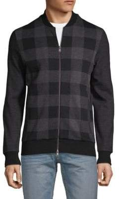 HUGO BOSS Salea Buffalo Check Bomber Sweater