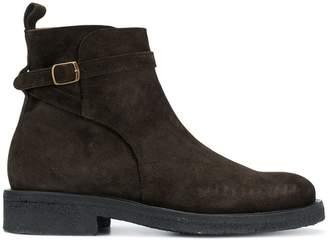 Ami Alexandre Mattiussi Strap Boots With Crepe Sole