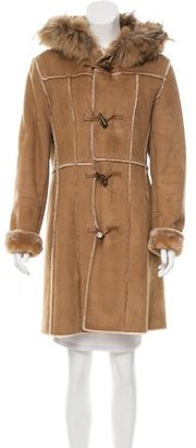 Andrew Marc Fur-Trimmed Hooded Coat $280 thestylecure.com