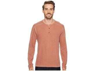 Agave Denim Riptide Long Sleeve Henley Slub Thermal Men's Long Sleeve Pullover