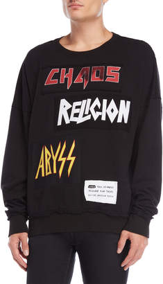 Religion White Abyss Patch Crew Neck Sweatshirt