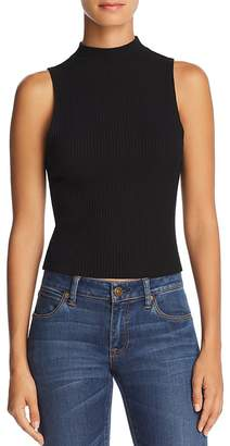 Michelle by Comune Winder Mock Neck Ribbed Top