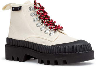 Proenza Schouler White canvas hiking boots